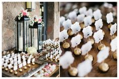 Escort card ideas, seating chart ideas, Ferrero Rocher | Rustic Chic Wedding | Encanterra Wedding Photos | Rachel Solomon Photography Blog | Kimberly and Bobby – Encanterra Wedding | http://blog.rachel-solomon.com