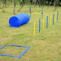 Shop for Pawhut Dog Obstacle Agility Training Course Kit. Get free delivery On EVERYTHING* Overstock - Your Online Dog Supplies Store! Online Dog Training, Training Kit, Best Dog Training, Training Equipment, Training Videos, Agility Training For Dogs, Dog Agility, Chicken Runs, Dogs
