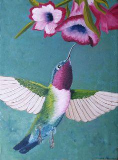 Gorgeous Hummingbird Art