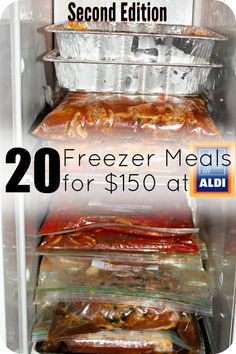 This Aldi Meal Plan is AMAZING! 20 meals for $150 prepared in 3 hours! Gluten-free modifications included!