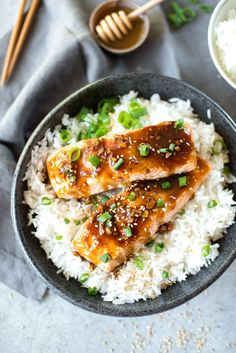 Asian Honey Orange Glazed Salmon