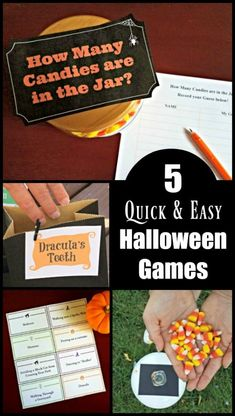 5 Easy Halloween Games Easy Halloween Party Games for Kids, tweens and teens (with FREE printables!) – quick to. Teen Party Games, Halloween Party Games, Easy Halloween, Sleepover Party, Sleepover Activities, Activities For Kids, Party Activities, Thanksgiving Games For Kids, Minute To Win It Games