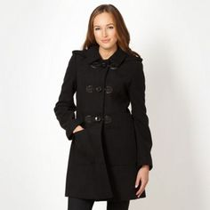 The Collection Black duffle coat- at Debenhams Mobile
