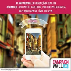 #CampaignWall'u hemen şimdi deneyin. #CanlıDemo sekmesindeki #hashtag le Facebook, Twitter, Instagram dan paylaşım yapın ve www.campaignwall.com daki canlı demo linkinden paylaşımınızı hemen görün. Sürprizli kampanyalara katılma, hediye kazanma fırsatı yakalayın...