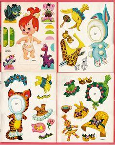 Vintage 1963 Pebbles Flintstone Paper Dolls Whitman Uncut   eBay