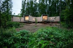 House in the Forest is a minimal home located in Hokkaido, Japan, designed by Florian Busch Architects. This project begins with close to three hectares of barely touched forest. Only a short distance from Niseko's ski slopes, the silence here is the antithesis of the vacation bustle that has turned several of the renown ski area's towns into a haphazard sprawl of increasingly suburban dimensions.