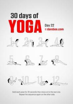 Yoga For Beginners 30 Day Challenge - Fitness Style Yoga Girls, 30 Day Yoga Challenge, Workout Challenge, Darbee Workout, Spiritual Wellness, Spiritual Enlightenment, Weight Loss Video, Yoga Day, 30 Days Of Yoga
