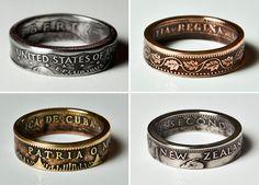 Designer cria anéis a partir de moedas mantendo o seu aspeto original - s2