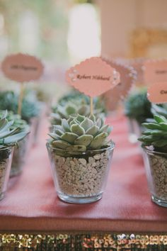 #succulents Photography by fondlyforever.com Floral Design by arrangementsdesign.com Read more - http://www.stylemepretty.com/2013/04/26/la-quinta-wedding-from-fondly-forever-photography/