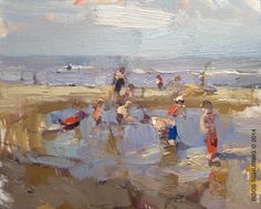 """Seascape """"Shallow Water Lifelyness"""" - http://rosepleinair.com/seascape-shallow-water-lifelyness/"""