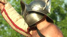 AQUILEIA - JUNE 22: Roman gladiator during the reenactment Tempora Aquileia on June 22, 2013 in Aquileia, Italy