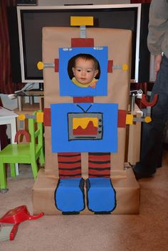 'Robot photo booth' - Library display