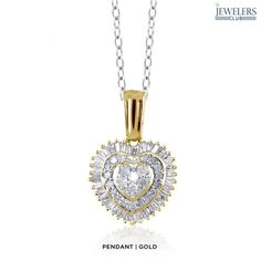 0.5ctw Genuine White Diamond Heart Earrings or Pendant in Sterling Silver - Assorted Finishes
