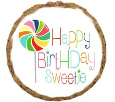 Happy Birthday Sweetie Dog Treats - 6 Pack