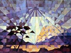 JH Pierneef - South West Africa landscape -- Pierneef became cubist in his later… Africa Art, West Africa, South African Artists, Virtual Art, Stone Mosaic, Elementary Art, Beautiful Paintings, Art Pictures, Deco