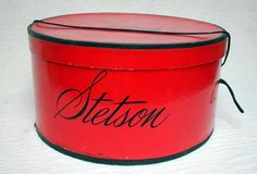 Stetson Vintage Hatbox Vintage Hat Boxes, Vintage Love, Vintage Prints, Suitcase Storage, Old Boxes, Pretty Box, Cowboy Hats, Color Pop, Red And White
