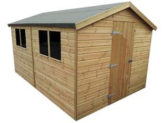 Metro Garden Shed 12 x 8, Pressure Treated - Titan Garden Buildings, specialists in sheds, workshops, summerhouses, bespoke sheds and stock sheds.