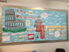 My first display board - Roman display board for ks2