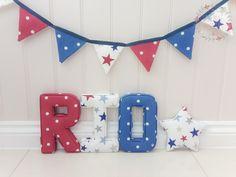 R -Dotty Red,  I - Funky Star Red O -Dotty Denim,