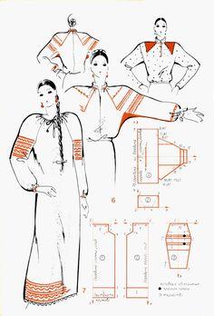 Costume Patterns, Dress Patterns, Sewing Patterns, Top Pattern, Pattern Design, Mode Russe, Russian Fashion, Pattern Cutting, Pattern Drafting