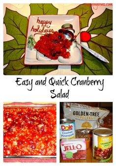Here's a delicious side dish for your Thanksgiving table!  Easy and quick cranberry salad that everyone is sure to enjoy.