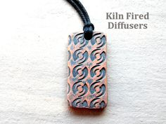 Unique Diffuser Necklace for Him Black by KilnFiredDiffusers