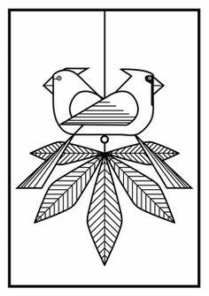 Birds: Charley Harper Coloring Cards