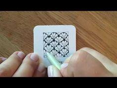 So zeichne und schattiere ich das Zentangle® Muster Pixioze von Margaret Bremner. Eine Übersicht aller Muster gibt es auf http://bunte-galerie.de/zentangle-m...