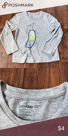 Baby Gap wiener dog shirt. Size 5. Great Weimar dog tee from GAP. Size 5t. Make an offer or bundle for greater savings! GAP Shirts & Tops Tees - Long Sleeve