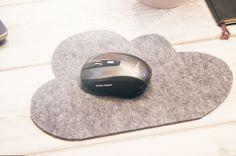 Wolkenliebe // DIY Mousepad aus Filz ♥                                                                                                                                                                                 More