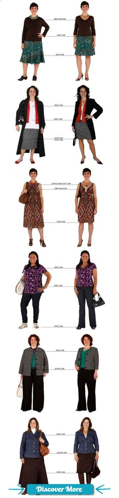 "This is what I mean when I say ""clothes with structure."" But I do need shirts to come to mid-hip, at least til pants fit well at waist. And I don't wear skirts. Dress to flatter your shape using ideal fit and proportions Fashion Over 50, Look Fashion, Fashion Beauty, Pear Fashion, Trendy Fashion, Mode Outfits, Casual Outfits, Fashion Outfits, Womens Fashion"