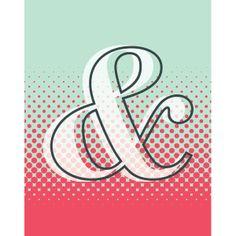 """Pop Art Ampersand"" by Debbie Albin, New York // If you love typography you'll love this fun pop-art inspired amersand artwork. Poster Design Inspiration, Design Poster, Typography Inspiration, Work Inspiration, Web Design, Pop Art Design, Logo Design, Design Ideas, Brand Design"
