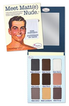 theBalm 'Meet Matte' Nude Eyeshadow Palette available at #Nordstrom