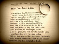 Poetry on wedding rings