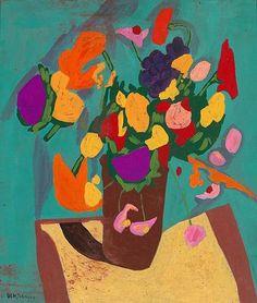 William H. Johnson  Still Life—Flowers  1944-45
