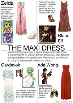 The Maxi Dress - 4 Ways Zelda (Legend of Zelda) pinned for zelda