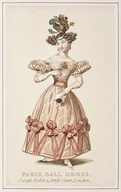 Fashion Plate (Paris, Ball Dress), Joseph Robins: English, ca. 1830, engraving on paper.