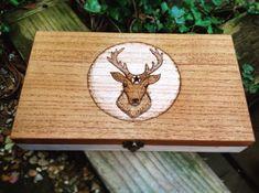 Rustic Cigar Case Stag Box Wooden Cigarette Box Mans Box