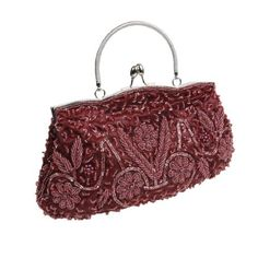 BMC Red Beaded Sequin Design Metal Frame Kissing Lock Clasp Satin Interior Evening Clutch - Exuding Eloquence Collection b.m.c http://www.amazon.com/dp/B00H7NSNK2/ref=cm_sw_r_pi_dp_5jUOtb0HJW6VRQ3T