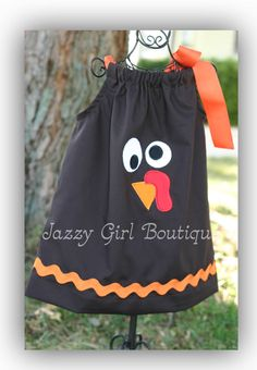 Girls Thanksgiving Pillowcase Dress with by jazzygirlboutique