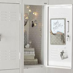 Preppy Diamond Grey Locker Wallpaper, 3 Sheets