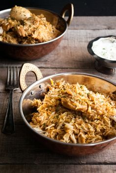When you don't have time to slave away in the kitchen, this chicken biryani can be started on the stove and finished in the rice cooker!