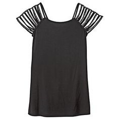 cut out strip sleeve t-shirt