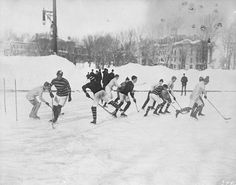 Hockey match at McGill University. 1901 (Credit: Notman & Son/Library and Archives Canada/MIKAN 3332330) copyright expired