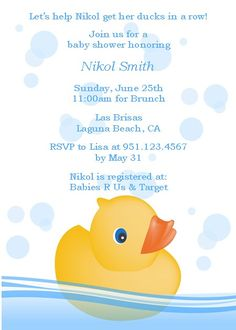 30 Rubber Duck Personalized Hershey Nugget Labels Birthday Baby Shower