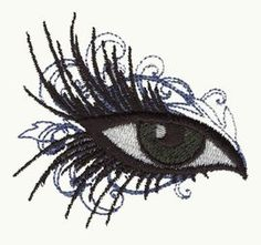 Make-Up Eye Free Machine Embroidery Design