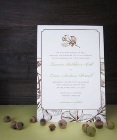acorn #fall #wedding invitation design