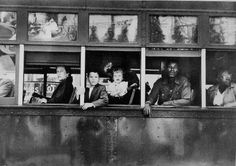 notice the order in which the passengers are sitting (Photo by Robert Frank)