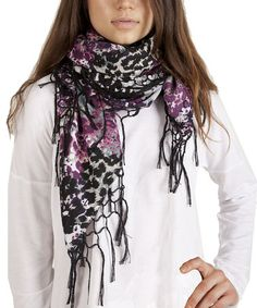 Take a look at this Purple Floral Scarf by Plush on #zulily today!