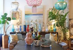 Chandeliers, lamps and accessories galore at Mecox Palm Beach #interiordesign #home #decor #lighting #design #MecoxGardens